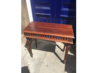 Hall console table , lovely detail and condition . Size L 32in D 15in H 29in.