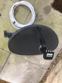 Dish with new lnb and long wire