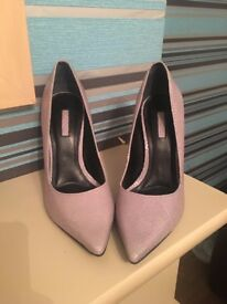 TOPSHOP grey hight heeled shoes