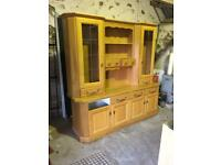 Solid Oak fronted kitchen dresser with all drawers