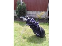 Golf Set and Bag with built in stand