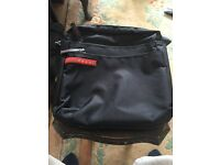 Prada black nylon cross body bag