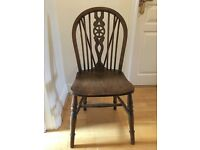 Vintage wooden wheel back chair (pair)