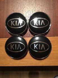 4 Kia alloy centre caps