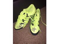 Jonathan Spector Adidas signed boots. Size 10.