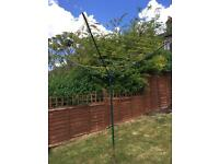 Garden clothes line rotary airer