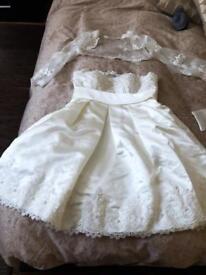 Short wedding dress size6/8
