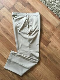 Adidas Golf Trousers W34 32L Beige. Worn Once. As New