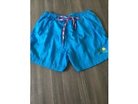 Swim shorts - full moon party koh phangan, turquoise blue, excellent condition