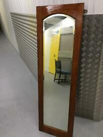 Heavy wood framed mirror