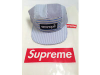 Supreme x Comme Des Garcons 5 panel Camp Cap Box Logo Hat