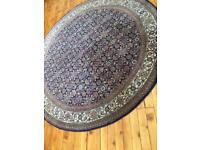 Handmade round wool rug