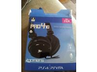 Pro 410 Stereo Gaming Headset for PS4/PSVITA