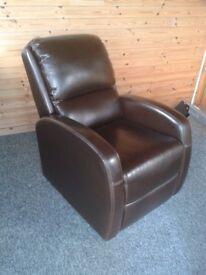 Leather Manual Lazee Boy Type Reclining chair