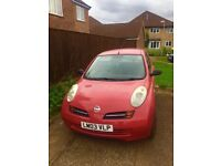 Nissan Micra E Red 2003 1.0 petrol, manual
