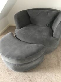 DFS CUDDLE CHAIR AND FOOT STOOL