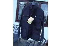 Barbour 100% Wax Flyweight Mens XL Black Jacket Brand New