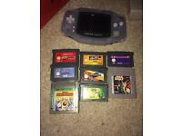 Clear Gameboy Advance and games Nintendo