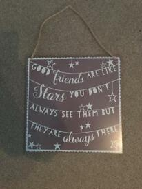 Shabby chic quote sign