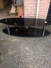 Oval glass tv stand coat £100 from currys