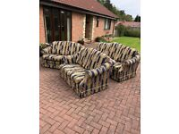 Two 2 seat sofas and One 3 seat Sofa