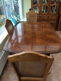 Dining table and 6 chairs plus 2 units