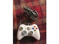 Official Xbox 360 pad (USB cable not included)