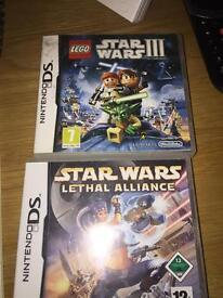 2 Nintendo DS Star Wars games excellent working order