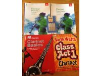 Clarinet books and reeds. Exc condition. Collect From Findern nr Derby