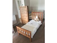 Nursery furniture. Cot bed, changing unit and drawer unit