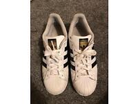 Adidas white superstars size 8.5 uk