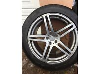 Winter alloy wheels and tyre set 255/45/R19