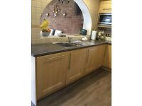 Kitchen cupboard doors with handles and hinges