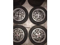 Selling 4 Alloy rims of a Ford fiesta escort/xr2 (not to sure)