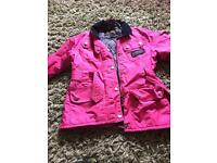 Barbour girl coat 8/9