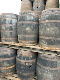 Oak barrels….approx 900 high…., £45…….each…..