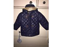 Baby boy quilted mayoral jacket