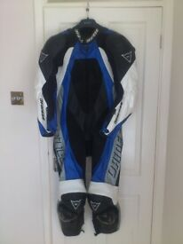 Dainese Motorcycle Racing Leathers and Gloves.