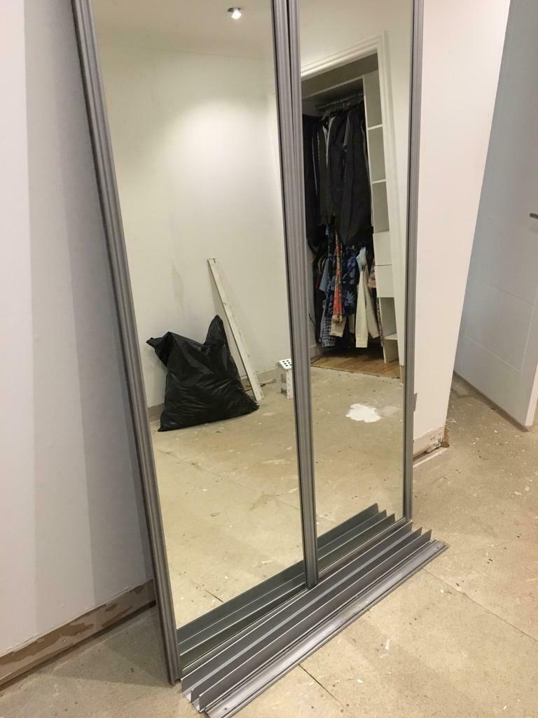 Silver Sliding Mirror Doors In Sighthill Edinburgh