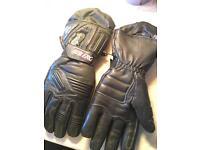 Leather Subzero motorcycle gloves
