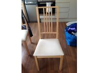 Two IKEA Börje oak chairs - good condition