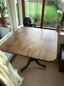 Antique Georgian Coffee Side Tilt Top Table