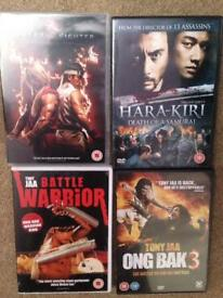 4 DVDs. Action Martial Arts