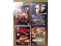 4 DVDs. Action Martial Arts