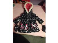 Girls mini mouse jacket size 1-1 1/2