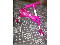 Immaculate Scuttle bug pink toddler bike, barely used only indoors
