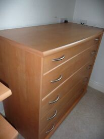 Bedroom Chest, Bedside Cabinet, Dressing Table (Desk), Bookcase with drawers, shelving unit,