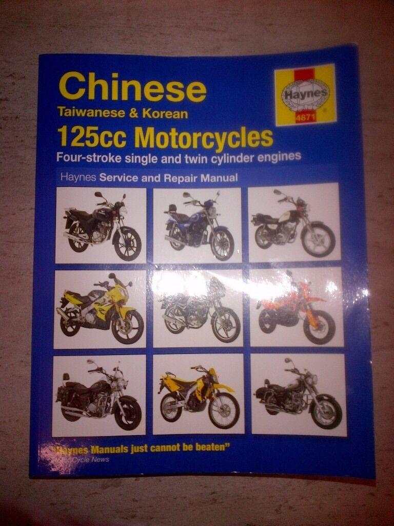 Haynes Service and Repair Manual 125cc Motorcycles,Chinese Taiwanese &  Korean Motorcycles
