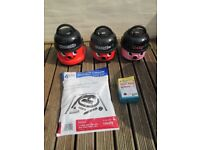 Henry / Hetty Numatic Vacuum Cleaners with full new cleaning kits £59 each