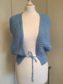 Knit Blue Waistcoat size 8